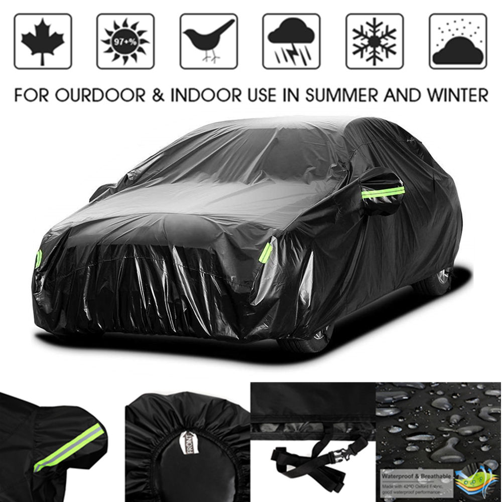 420D Rain Proof UV SUN Snow Protector Dust Resistant Waterproof Auto Sedan Saloon Hatchback SUV Full Car Cover Coat Shade-in Car Covers from Automobiles & Motorcycles