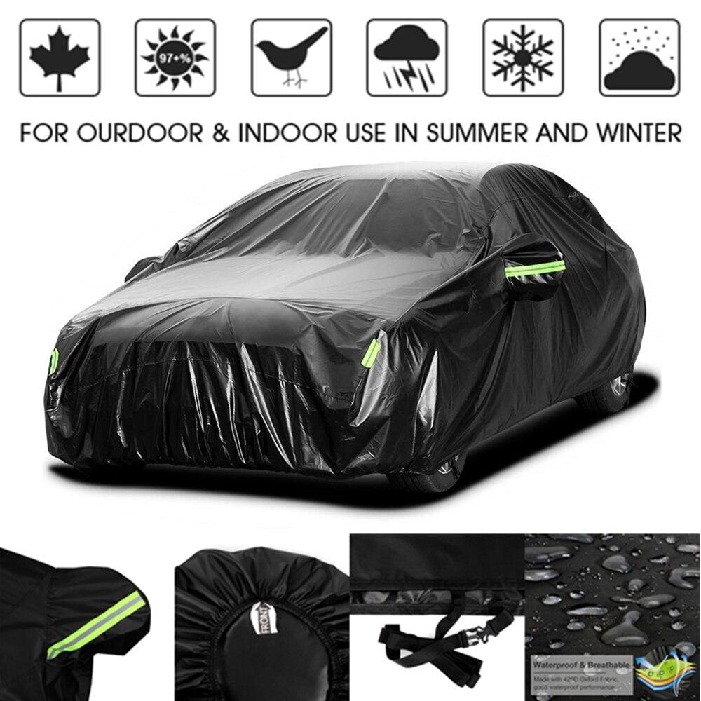 420D pluie preuve UV soleil neige protecteur résistant à la poussière étanche Auto berline berline Hatchback SUV pleine bâche de voiture manteau ombre