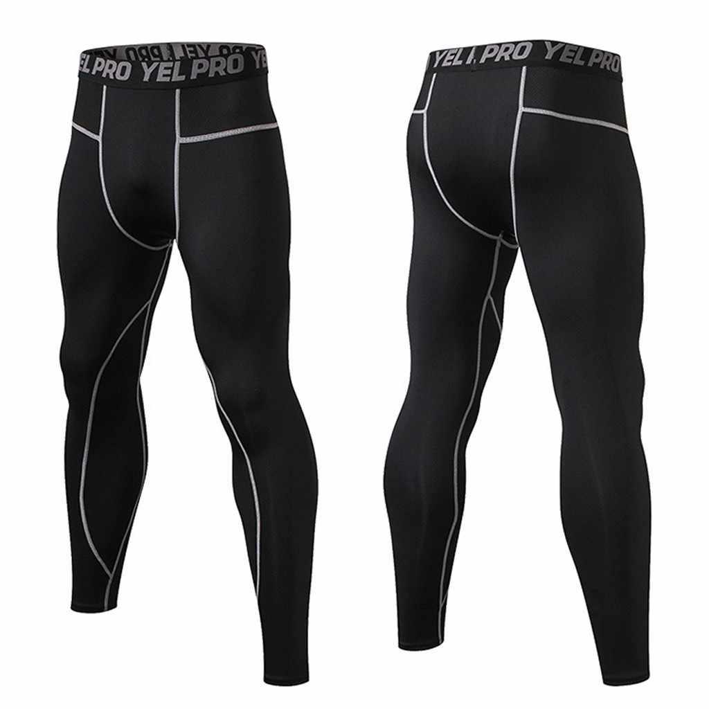 Pria Olahraga Celana Kebugaran Legging Pria Olahraga Cepat Kering Celana Leggins Cepat Celana Ketat Legging Kebugaran 2020