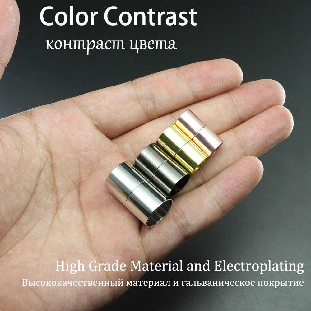 10pcs GOLD สี Clasps แม่เหล็ก 3 4 5 6 7 8 10 12 14 15 mm สร้อยข้อมือหนังตัวเชื่อมต่อสำหรับ DIY เครื่องประดับทำอุปกรณ์