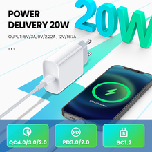 Quick-Charging-Adapter Fast-Charger Qc3.0-4.0 Xiaomi Tablet Huawei iPhone Type-C pd 20W