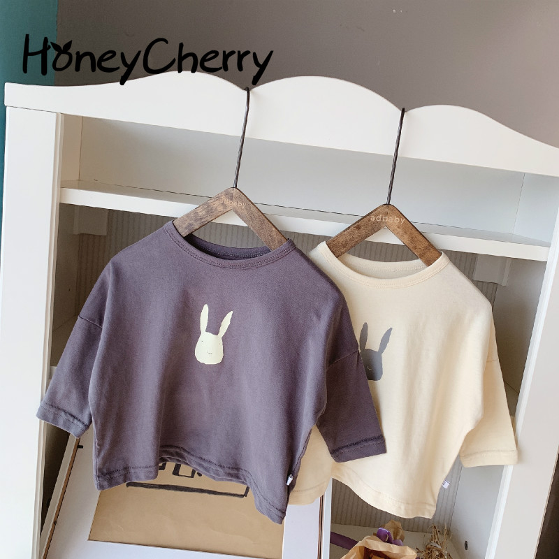 1179.0¥ 14% OFF 2021 Spring Children's New Cartoon Korean T shirt boy And girl Long Sleeve Bottomin...