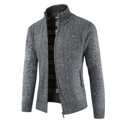 2019  Brand New Fashion Thick Sweaters Cardigan Coat Men Slim Fit Jumpers Knit Zipper Warm Winter Business Style Men Clothes 2