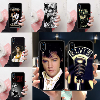 Singer Elvis Presley Phone case For Huawei Honor View 6 7 8 9 10 10i 20 A C X Lite Pro Play black painting Etui art coque pretty image