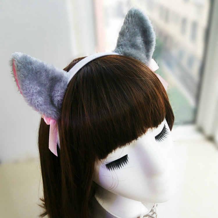 נשים שיער סרט שיער אביזרי מסיבת תלבושות מתוק חתול אוזני ליל כל הקדושים בגימור חמוד חתול שועל אוזן סרטי ראש