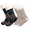 2 пары носков женские толстой вязки подстежка на искусственном меху, с флисовой подкладкой носки Термальность Пушистые Носки-тапочки женск...