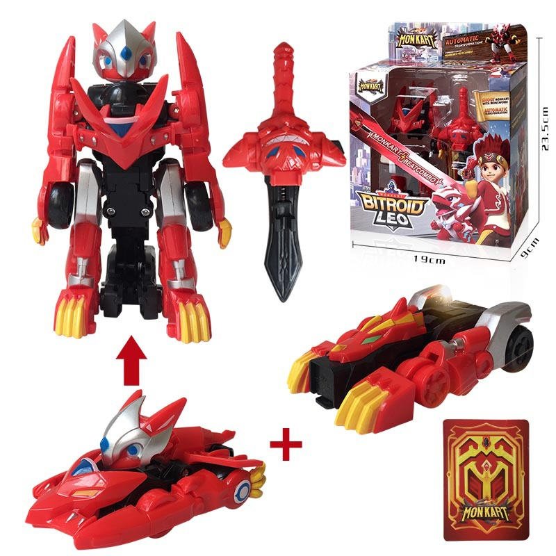 Monkart Transformation Robot Bitroid Zero Draka Rarrken Leo Moncha Pixie Vasper Dante Car Toys For Children Christmas Gifts