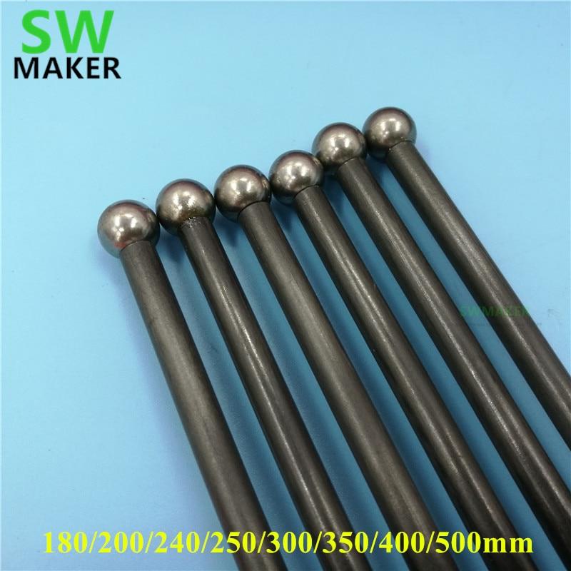 Reprap Kossel Delta Magnetic Diagonal Push Rods Kit For DIY 3D Printer End Rods Arms Kit/set 180mm-500mm Carbon Tube Assembled