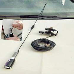 UHF460M spring whip antenna moblie radio 5/8 wave whip antenna 460M high gain 5.5dBi vehicle UHF antnena spring whip