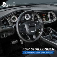 Velocidade do ar fibra de carbono para dodge challenger 2015 2016 2017 2018 2019 2020 acessórios driver center console guarnição capa adesivo