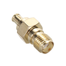Maytir 1pc 50 Ohm SMA Female Jack To MCX Male Plug RF Coax Adapter High Quality Gold Plating Connector(China)