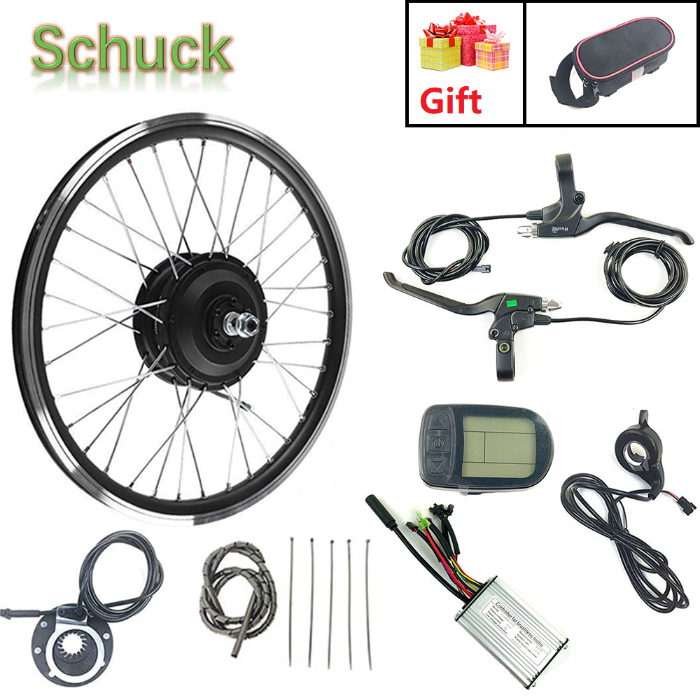 Schuck Ebike Electric Bicycle Conversion Kit Front Motor Wheel 24V 250W With KT LCD5 Display 16-28 Inch 700C Spoke And Rim