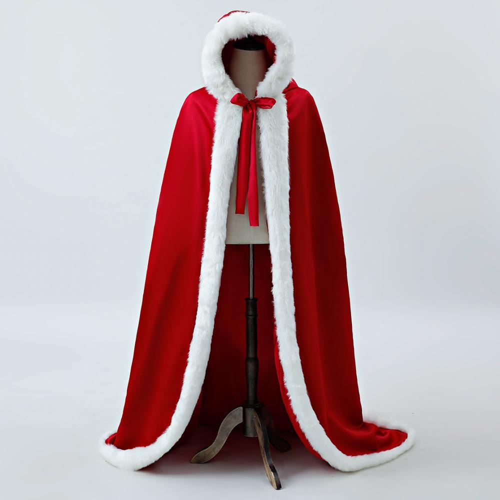 Hooded Halloween Cloaks In Stock Velour Plush Edge Bridal Cape 2019 Burgundy Ankle Length Long Wraps Cheap 100% Real Photo