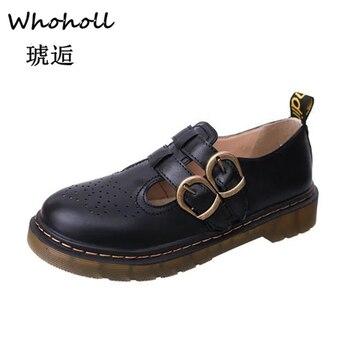 Zapatos Oxford de estilo británico Para Mujer, zapatillas planas de punta redonda...