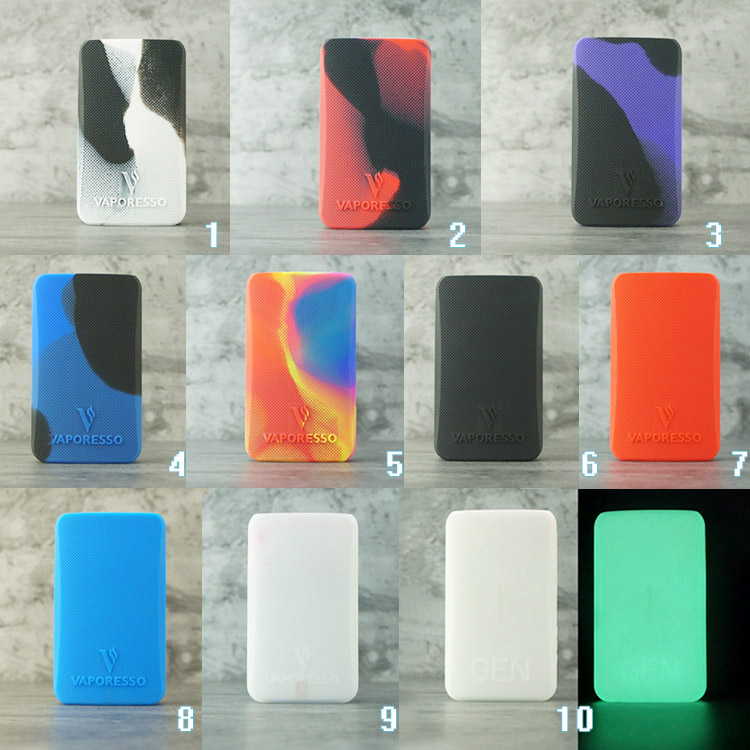 Vapesoon Decorative Protection Cover Skin Silicone Case For Vaporessoo GEN Kit Kit Aurora Pods E-Cigarette