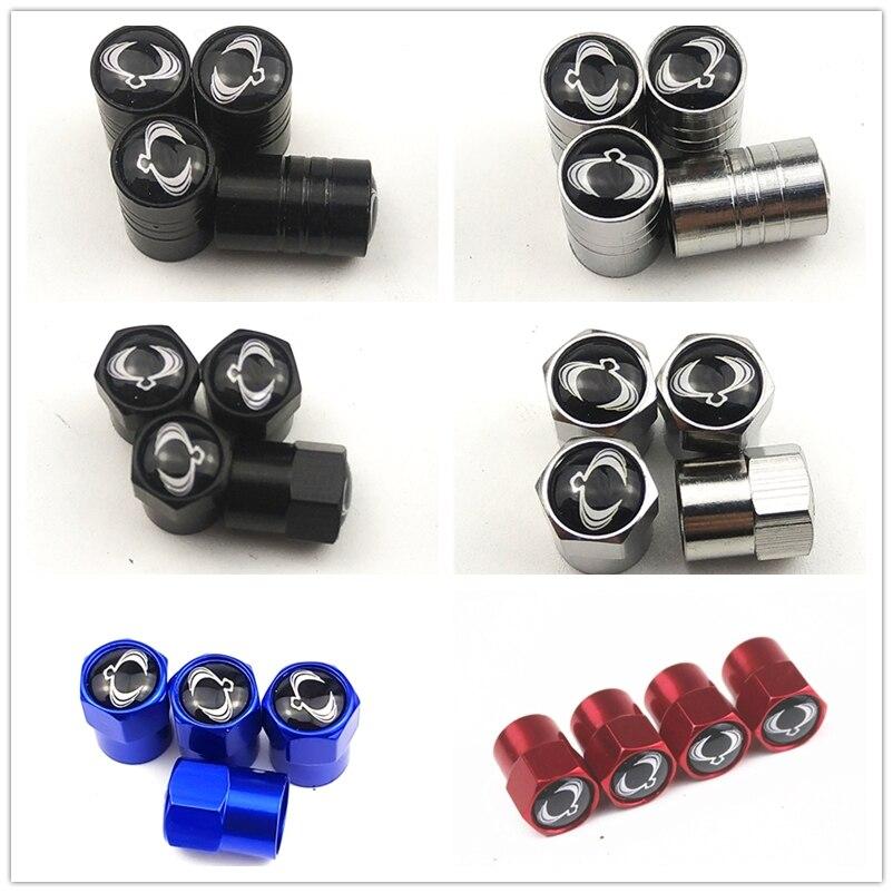 2019 nova roda tampões theftproof metal pneus de roda carro válvulas haste do pneu tampas da válvula ar enseada hermética para ssangyong acessórios do carro