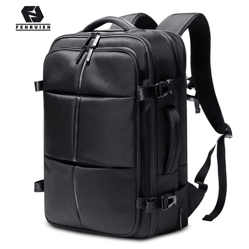 Fenruien New Multifunction Men Backpack 15.6 Inch Laptop Bag Business Expansion Backpacking Waterproof Outdoor Travel Backpacks
