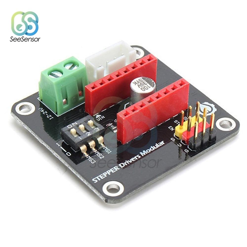 DC 12-30V 42 Stepper Motor Driver Expansion Board DRV8825 A4988 3D Printer Control Shield Module For Arduino UNO R3 Ramps1.4 DIY