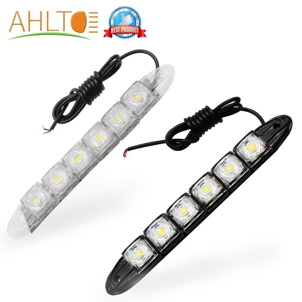 2x 6LED Car Daytime Running Light LED DRL Universal Warning Car Fog Lamp Bright