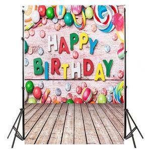 Image 2 - 0.9x1.5m fotograficzna tkanina artystyczna tło szczęśliwe zdjęcie urodzinowe tło studyjne zdjęcie rekwizytu dziecko rodzinne zdjęcie dekoracji hot