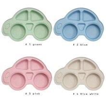 Детские миски тарелка посуда детский пищевой контейнер столовых миски младенческой еда чаша для кормления ребенка Дети Подающая пластина розового и зеленого цветов