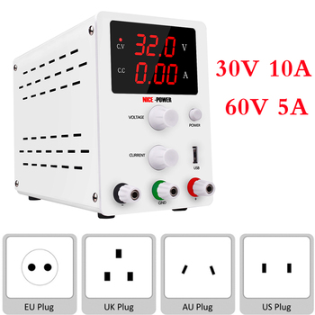Newest Nice DC LAB Adjustable Power Supply 30V 10A 60V 5A Bench Source Universal Switching Voltage Current Regulator for Phone