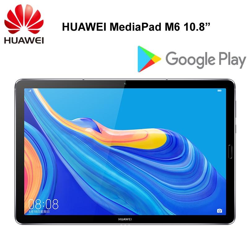 Оригинальный HUAWEI MediaPad M6 10,8 дюймов Kirin 980 Восьмиядерный Android 9,0 планшет type C 7500 мАч 2560x1600 отпечаток пальца ips экран