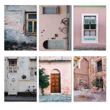 Розовый дом с принтом средиземноморский домашний декор европейская