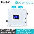Amplificateur de Signal cellulaire 2G GSM 900 3G 2100 LTE 1800 triple bande UMTS répéteur téléphone portable 4G amplificateur pour usage de bureau à domicile