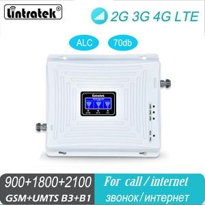 Image 1 - Hücresel sinyal güçlendirici 2G GSM 900 3G 2100 LTE 1800 Tri Band UMTS tekrarlayıcı cep telefonu 4G amplifikatör ev ofis kullanımı için