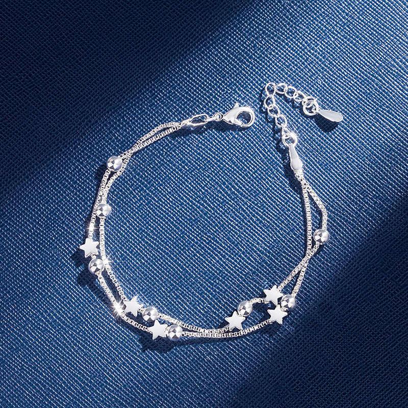 Layering Bracelet Adjustable Bracelet 925 Silver Bracelet Star Chain Bracelet