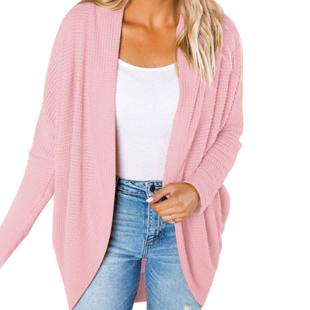 JODIMITTY Autumn Winter Knitwear Cardigan Sweater Women Long Sleeve Large Size Knitted Sweater Cardigan Female Solid Jumper Coat