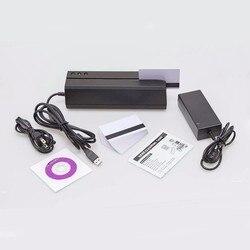 MSR605 magstripe кард-ридер писатель кодировщик usb вилка США программное обеспечение совместимо с MSR X6BT msrx6 msrx6bt MSR206
