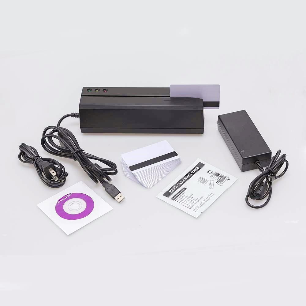MSR605 Magstripe Card Reader Writer Encoder Usb US Plug Software Compatible With MSR X6BT Msrx6 Msrx6bt MSR206