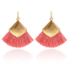 2019 Colorful Ethnic Style Fashion Bohemian Geometric Tassel Hanging Earrings Womens Wedding Statement