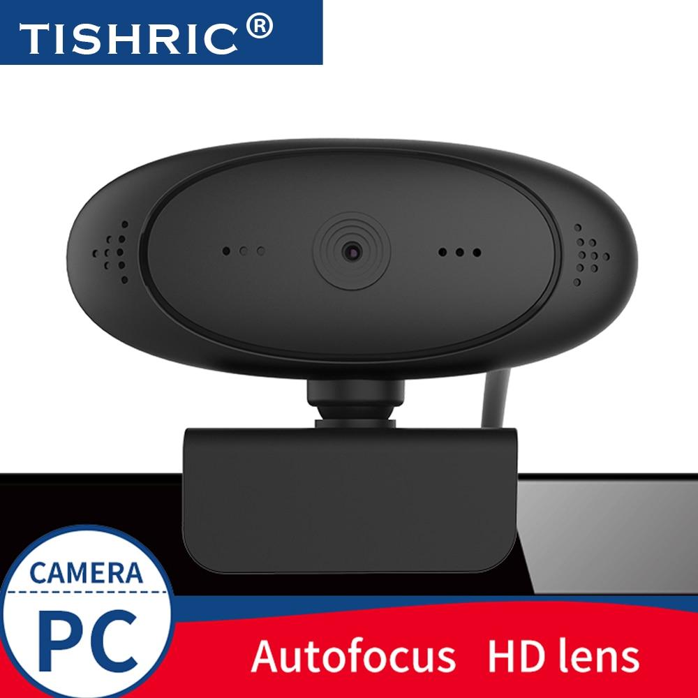 TISHRIC HD Webcam 1080p Web Cam Auto Focus Web Camera With Microphone Web Camara For Pc Live Broadcast Video Call