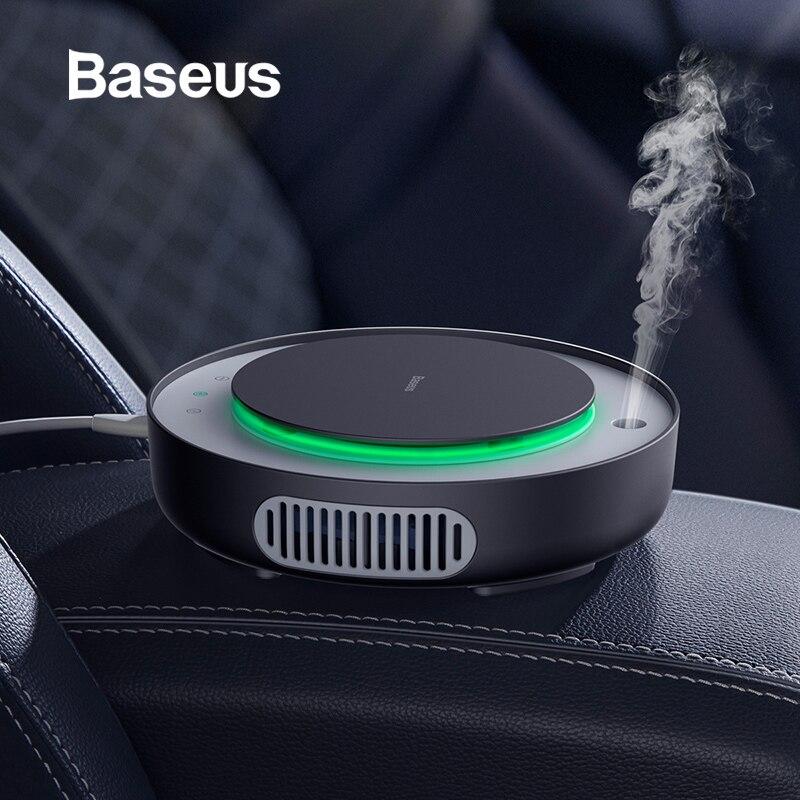 Purificador de aire Baseus 2in1 humidificador de coche iones negativos ionizador de filtro de aire con filtro eliminar PM2.5 formaldehído para el hogar del coche