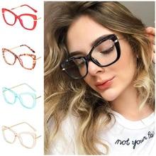 NEW Anti-Blue Glasses Unisex Optical Eyeglasses Cat Eye Spectacles Simplicity Crystal Face Frame Eyewear