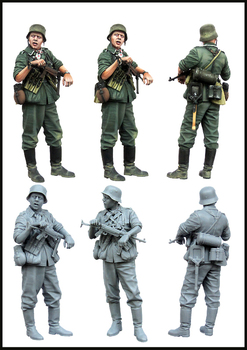 1/35  Uncolor infantryman summer ancient toy Resin Model Miniature Kit unassembly Unpainted - sale item Building & Construction Toys