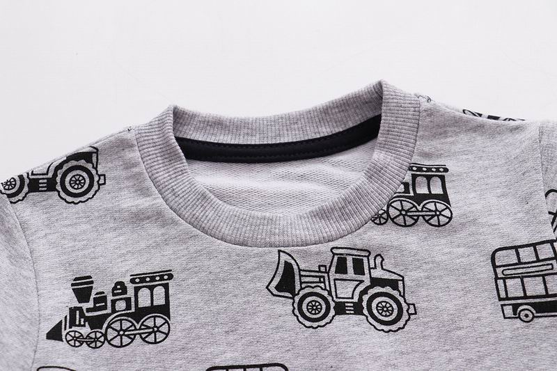 SAILEROAD Tractors Print Boys Sweatshirts Autumn Spring Children's Clothing Cotton for Baby Boys Clothes Kids Hoodies 3