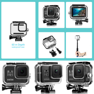 Image 5 - CAENBOO Waterproof Case For GoPro Hero 8 Black Underwater Diving Protective Cover Housing Mount for Go Pro Hero8 Accessories