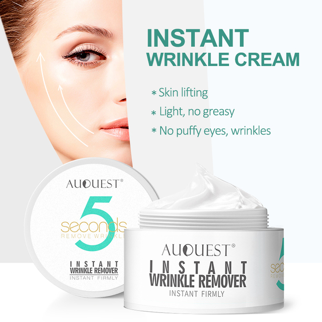 AuQuest 5 seconds Wrinkle Remover Puffy Eye Bags Firm Skin Lifting Peptide Anti Aging Day Cream Makeup Primer Makeup Base Beauty