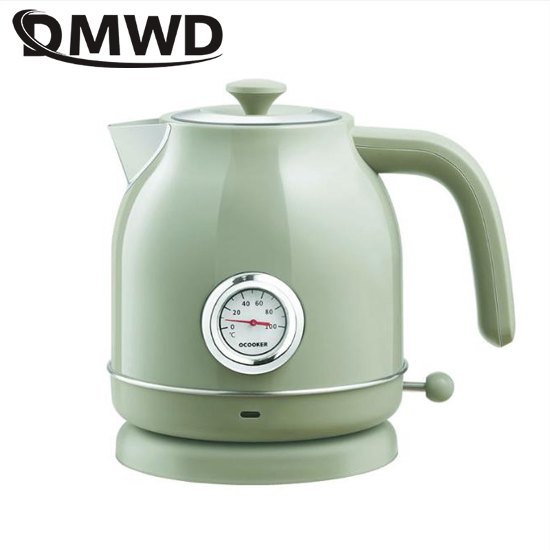 DMWD Electric Kettle 1.7L Boiling Tea Pot Coffee Heater Temperature Control Meter Stainless Steel Quick Heating Hot Water Boiler