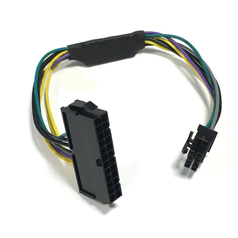 ATX 24pin To 8pin Power Supply Cable For DELL Optiplex 3020 7020 9020 T1700 Adapter Cable 24 To 8 Power Cord Length 26-28CM