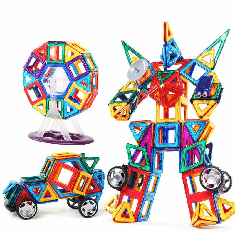 86 Pcs Ukuran Besar Magnetik Konstruktor Set Anak-anak Magnetik Desainer Blok Model & Magnetic Mainan Pendidikan Mainan untuk Anak-anak Hadiah