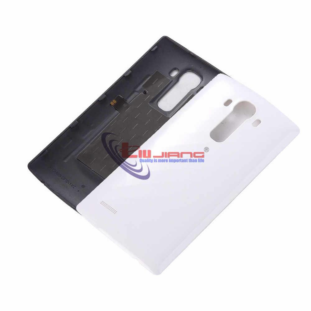 Orijinal pil konut kapak için LG G4 G2 G3 G3 mini D850 D800 kablosuz şarj pil kapı arka kapak parçaları