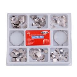 100Pcs/Pack Dental Matrix Sectional Contoured Metal Matrices Drop Shipping