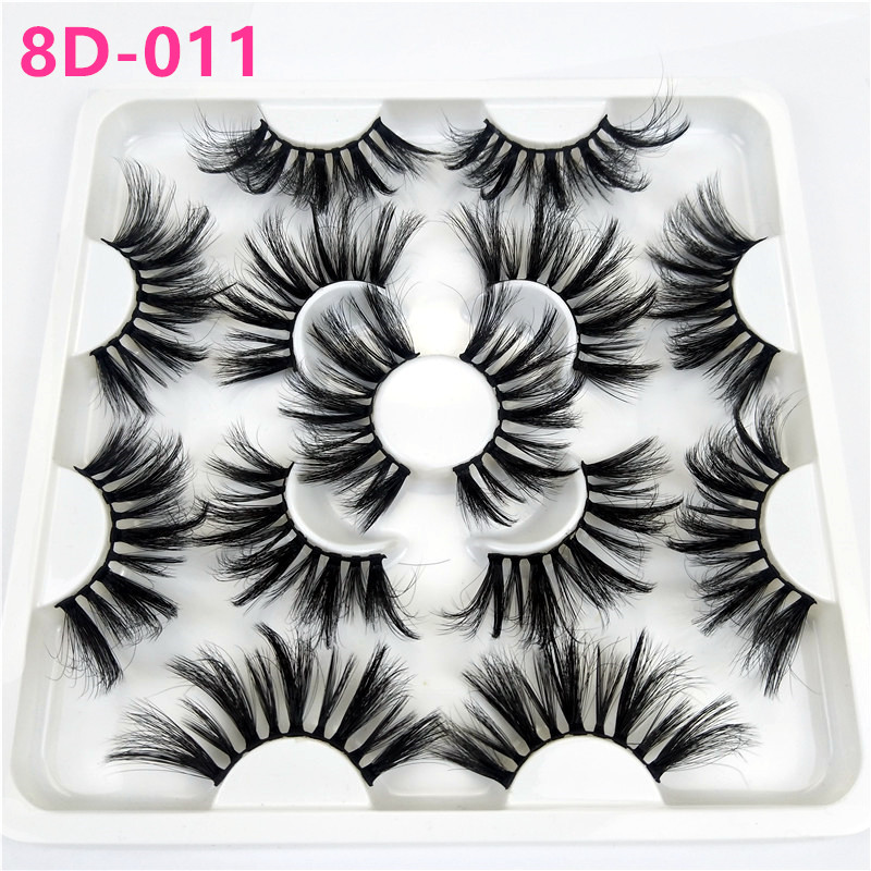 7 pairs 25mm lashes, 3d faux mink eyelashes wholesale, thick natural false eyelashes extension makeup