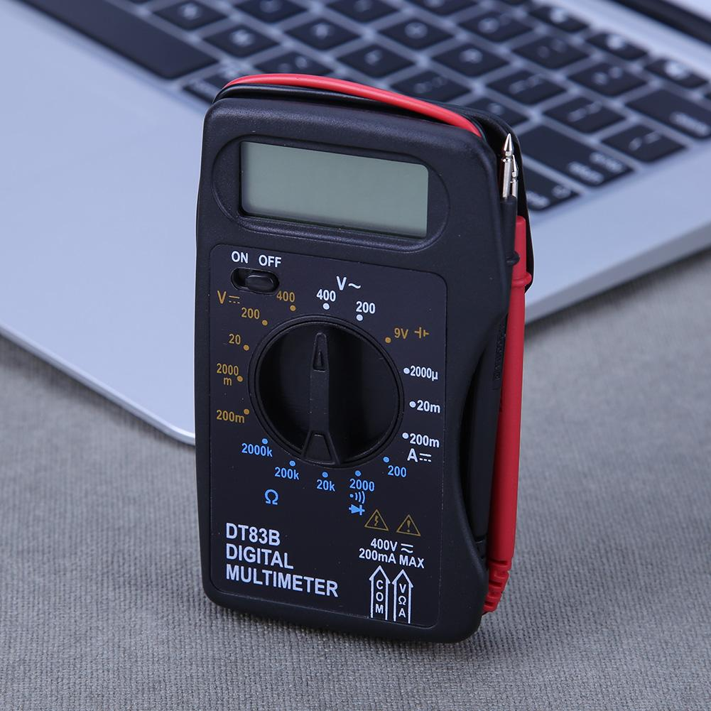 Portable Digital Multimeter 1999 Counts Mini Pocket Ammeter Voltmeter Current Voltage Ohm Meter Battery Capacity Test