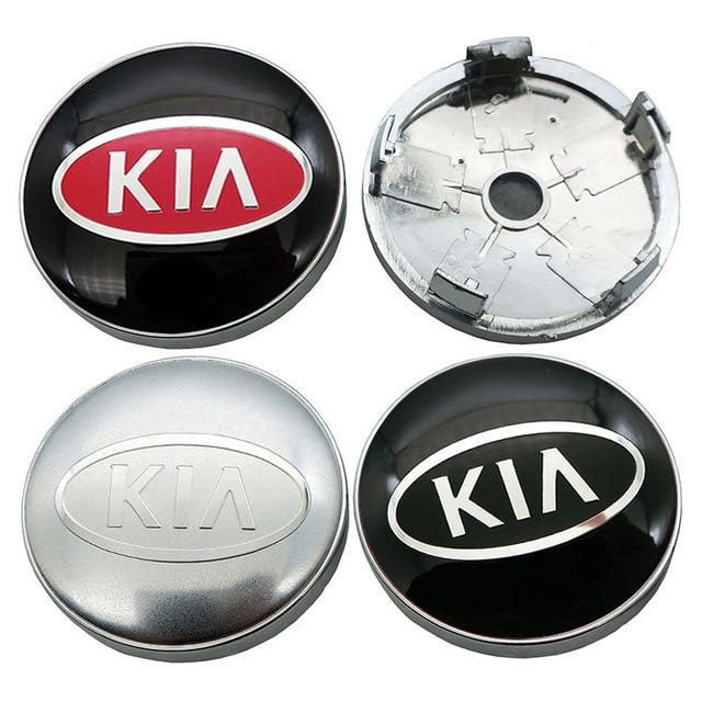 4Pcs 60mm 56mm 로고 기아 자동차 휠 센터 허브 캡 배지 스티커 자동차 휠 방진 커버 데칼 자동차 스타일링 Accessorie